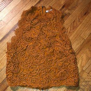 Zara Brown Orange Top